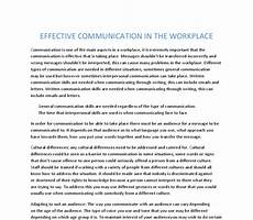 Effective Essay Effective Communication In The Workplace A Level Ict