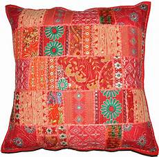 20x20 quot decorative vintage throw pillow embroidered
