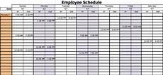 Working Schedule Format 10 Free Employee Work Schedule Templates Excel Worksheets