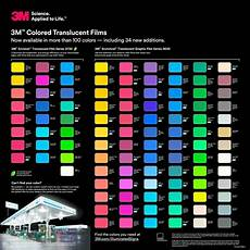 3m Translucent Vinyl Chart 3m Commercial Graphics Envision Translucent Film Series