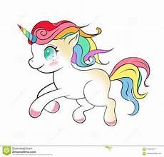 vettore sveglio fumetto dell unicorno disegno magico