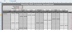 Schedule Excel Spreadsheet Get Monthly Shift Schedule Spreadsheet Templates Excel