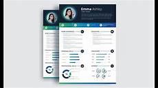 Creative Designer Cv Creative Cv Resume Design In Adobe Illustrator Cc Youtube