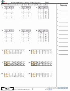 Patterns In T Charts Grade 4 Worksheets Patterns Amp Function Machine Worksheets Pattern Worksheet