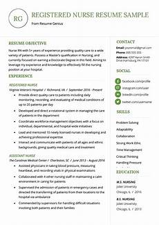 Nursing Template Resume Nursing Resume Sample Amp Writing Guide Resume Genius