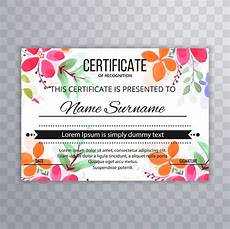 Background Certificate Of Appreciation Beautiful Certificate Floral Template Background