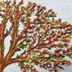 weekend stitching lots of knots and leaves