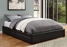 black platform storage bed from coaster