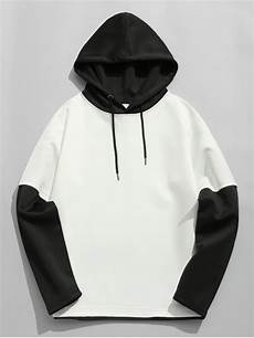Black And White Designer Hoodie 35 Off 2020 Color Block Space Cotton Hoodie In White