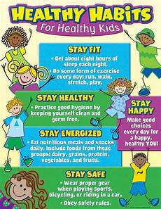 Healthy Chart Healthy Habits For Healthy Kids Chart Healthy Habits For
