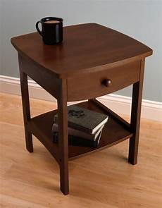 small side end table storage wooden living room drawer bed