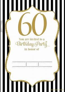 Free Printable 60th Birthday Invitations Templates Free Printable Black And White 60th Birthday Invitation