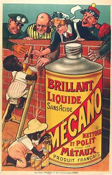 Advertisement Posters Polishing Brillant Liquide Mecano Vintage Advert Poster