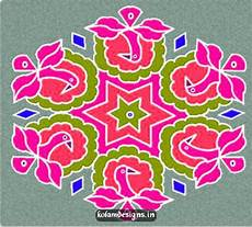 Color Kolam Designs With Dots Search Results For 25 Pulli Kolam Dots With Color