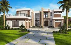 Modern Villa Marvelous Contemporary House Plan With Options 86052bw