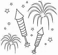Ausmalbild Rakete Silvester Firework Coloring Pages To And Print For Free