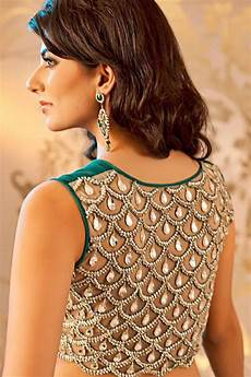 All Over Saree Design Embellished Saree Blouse Designs