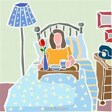 breakfast in bed royalty free vector clip illustration