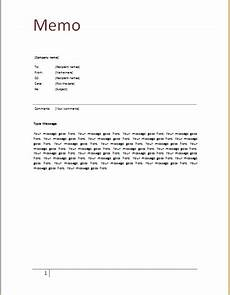 How To Make A Memo In Word Memo Template At Word Documents Com Memo Template Memo