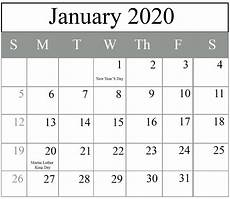 2020 Jan Calendar How To Schedule Your Month With January 2020 Printable
