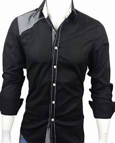 mens black dress shirts sleeve 28 s casual sleeve dress shirt black with checks
