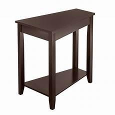 zintown 2 tier wood end table sofa side coffee
