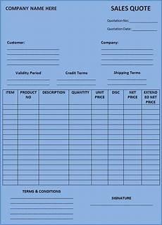 Free Quote Forms Price Quotation Templates 10 Free Docs Xlsx Amp Pdf