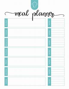 Free Printable Meal Planner Template Free Printable Meal Planner Set Weekly Meal Planner