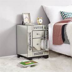preselling panana mirrored bedside cabinet bedside table
