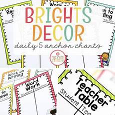 I Charts Daily Five Anchor Charts By Mrs Jones Creation Station Tpt
