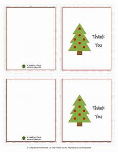 Free Printable Christmas Note Cards Free Printable Christmas Card Thank You Note A Crafty