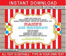 Carnival Theme Party Invitations Templates Carnival Invitation Template Carnival Invitations