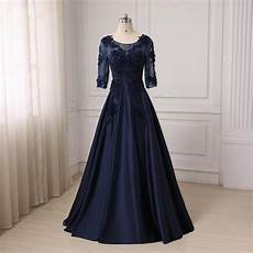 Dress For Fat Lady Design Evening Gowns For Fat Women 2017 Half Sleeves Long Dark