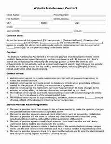 Contract For Website Design Services 32 Sample Contract Templates In Microsoft Word