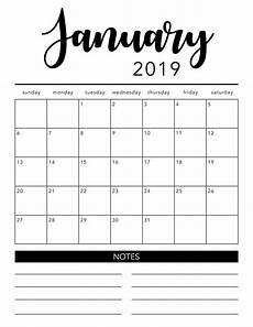 Month Printable Calendar Free 2019 Printable Calendar Template 2 Colors I