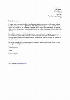 Example Of A Notice Letter Free Thank You Resignation Letters And Pointers For