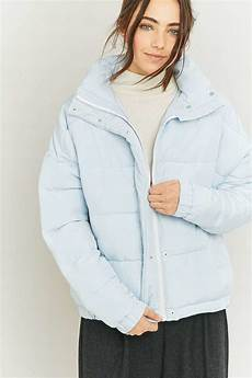 Light Blue Puffer Jacket Urban Outfitters Cropped Puffer Jacket Endource