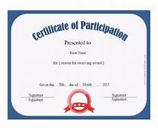 Free Printable Participation Certificates 12 Certificate Of Participation Templates Free