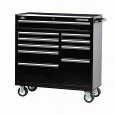husky 41 in 10 drawer tool cabinet black h4116tr the