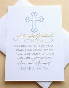 Condolences Thank Yous Religious Sympathy Thank You Cards With A Cross
