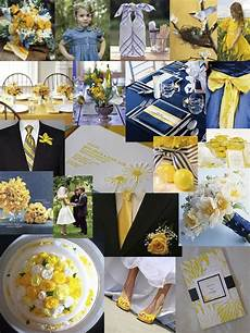 yellow and royal blue wedding decorations