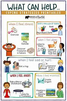 coping skills school counseling lesson posters