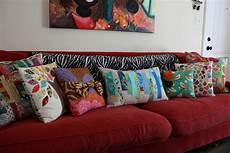 change sofa look only by beautifying it with throw pillow