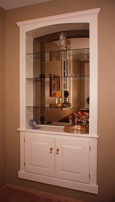 crafted built in wall cabinet by fred miller custom