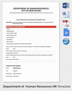 Human Resource Templates Free 11 Hr Complaint Forms In Pdf Word