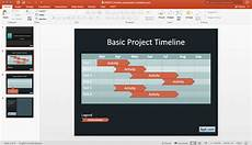 How To Create Template For Powerpoint Create A Basic Timeline In Powerpoint Using Shapes And Tables