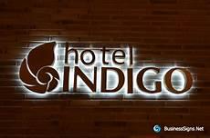 Indigo Light Up Letters 3d Led Backlit Signs With Mirror Polished Bronze Letter