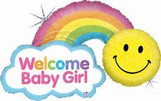 Welcome Baby Girl Shape Welcome Baby Girl Rainbow Balloon 45 Quot Simply Love