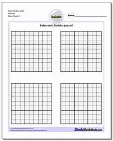 Sudoku Printable Grids Blank Sudoku