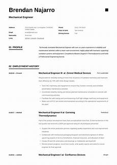 Examples Of Mechanical Engineering Mechanical Engineer Resume Amp Writing Guide 12 Templates